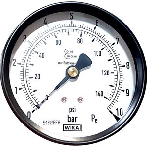 BAR/PSI PRESSURE GAUGE