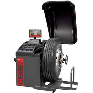 CEMB C212 HEAVY DUTY TRUCK & BUS WHEEL BALANCER WITH HOOD & BUILT-IN LIFT